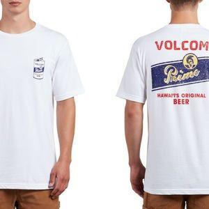 Volcom Men's White Primo Chug T-Shirt, Medium